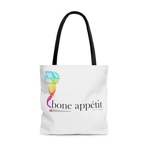 Bone Appetit Rainbow Tote Bag