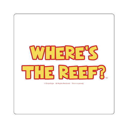 Where's the Reef Square Sticker
