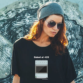 SQ sunglasses on girl with black t-shirt