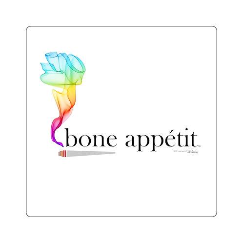 Bone Appetit Rainbow Square Sticker
