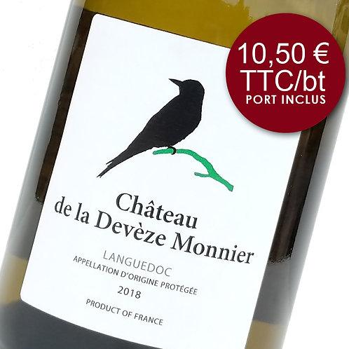 Château de la Devèze Monnier - Blanc 2018 - Carton 6 bouteilles
