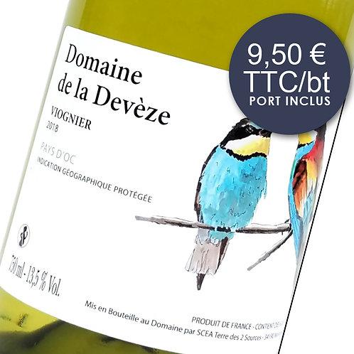 Domaine de la Devèze Viognier - Blanc 2018 - Carton 6 bouteilles