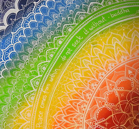 Rainbow Chakra Mandala Una Miller Art