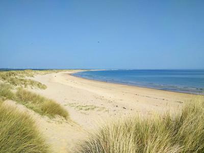 Druridge bay, Northumberland looking North