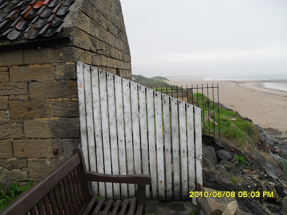 Bank top Cottage's balcony in Cresswell before the renovation