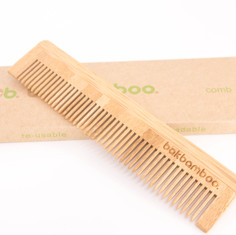 bamboo comb on box