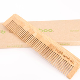 bamboo comb on box