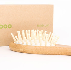bamboo hair brush.