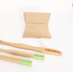 bamboo toothbrushes and denttabs