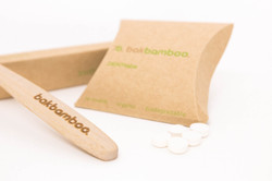bamboo tooth brush with denttabs
