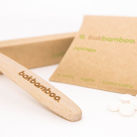 bamboo toothbrush with denttabs & box
