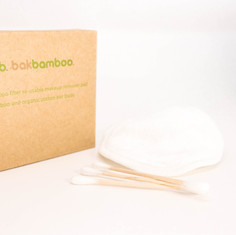 bamboo ear buds and make up pad