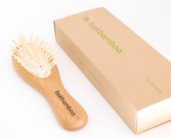 bamboo hair brush. Made by BAK Gro