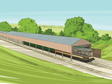 Appeal launched to raise £65,000 so work can resume on a new carriage storage shed