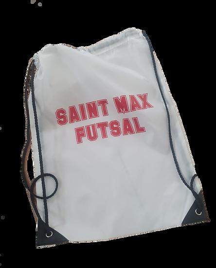 Sac blanc avec flocage  Saint Max futsal