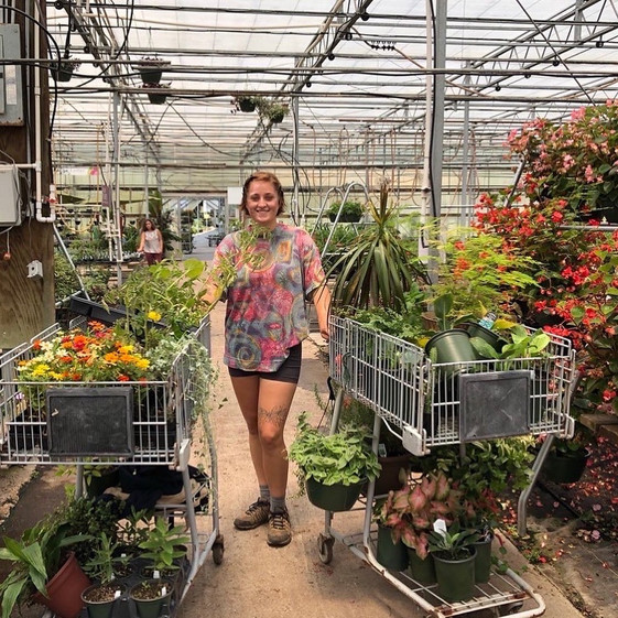 Savanna though she only needed one cart for her assortment of annuals, perennials, and houseplants (but quickly learned the error of her ways).