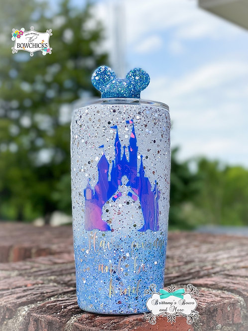 Have Courage and be Kind  Glitter Tumbler
