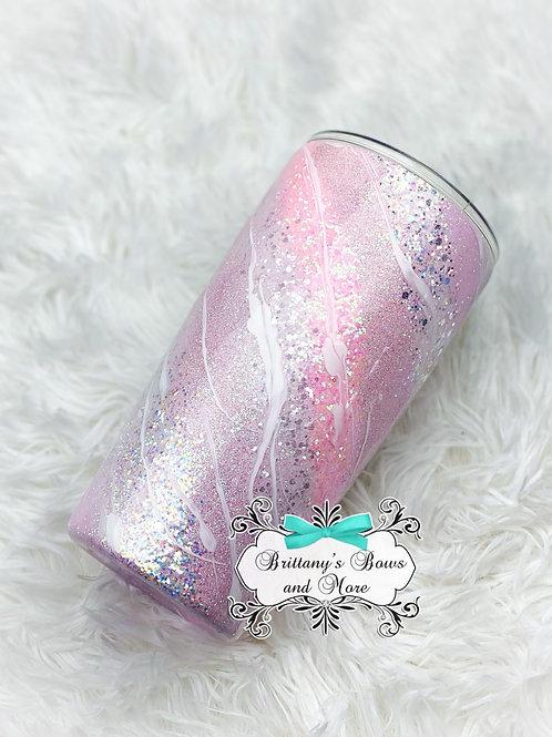Baby Pink Swirl Tumbler ( Made to Order)
