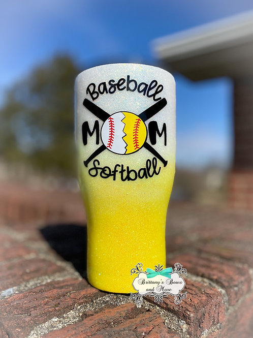Softball Baseball Mom Tumbler
