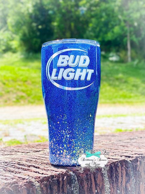 Bud Light Inspired Glitter Tumbler