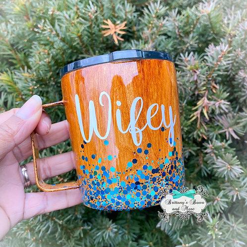 Personalized Woodgrain Mug