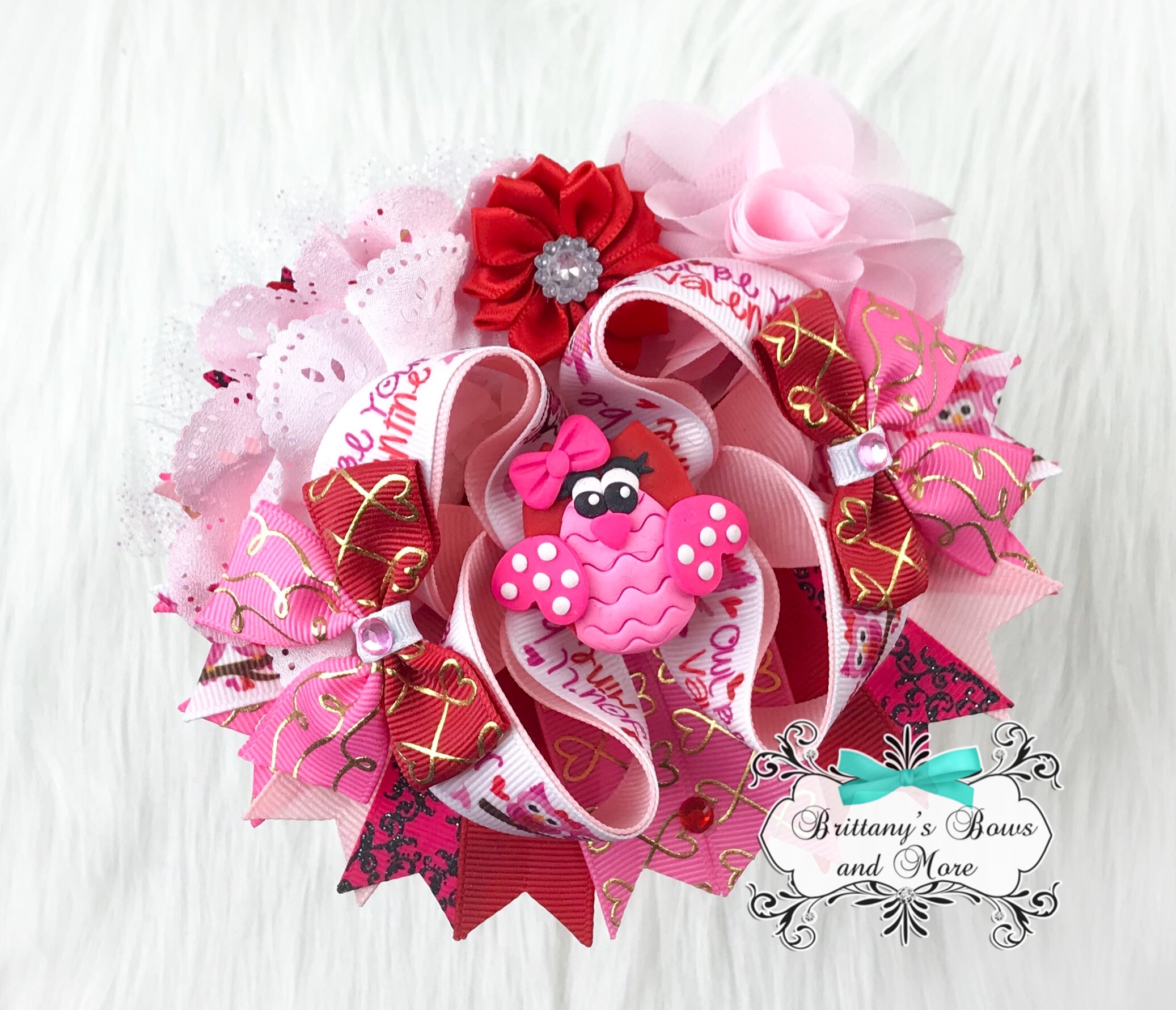 Owl Be Your Valentine OTT Bow