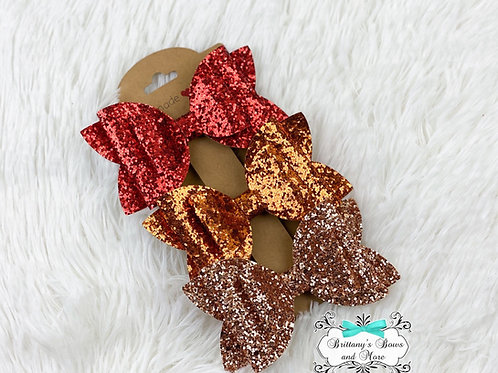 Shades of Fall Glitter Bow Set