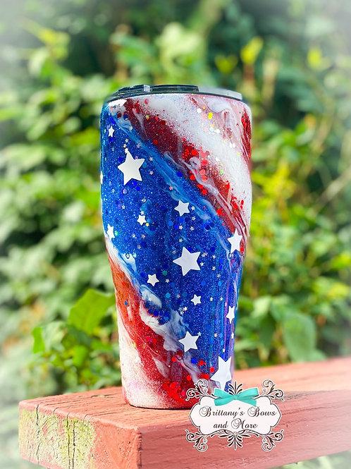 American Flag Swirl Tumbler 🇺🇸
