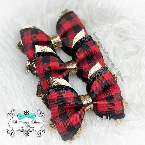 Buffalo Plaid Hairbow