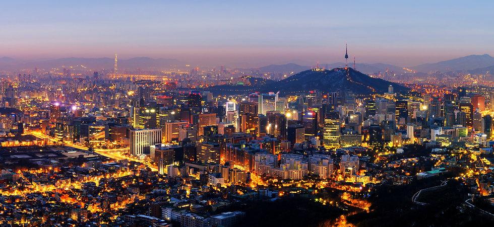 Panorama of Seoul City Skyline , South K