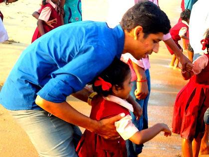 Orphanage student visit to beach.jpg