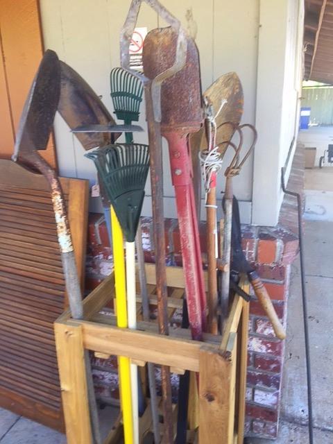 tools, rakes, shovels