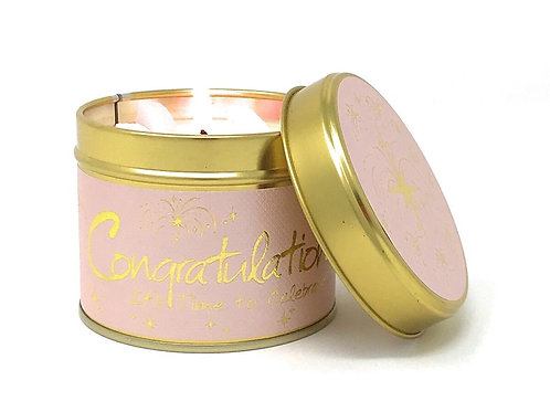 Lily Flame Scented Candle Tin