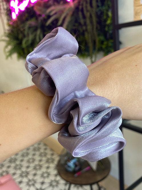 Purple Organza Scrunchie