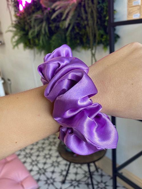 Vibrant Purple Silk Scrunchie