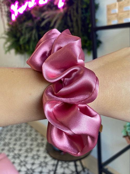 Hot Pink Silk Scrunchie