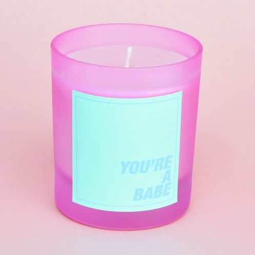 BLUEBERRY MARGARITA YOU'RE A BABE PASTEL FROSTED PINK CANDLE
