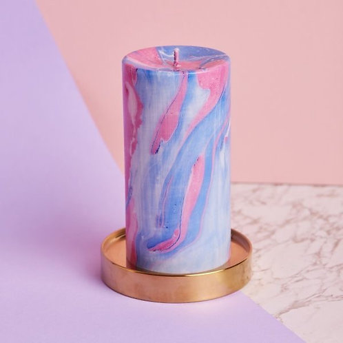 CANDY SHOP MARBLE PILLAR CANDLE