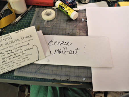 El Cerrito Recycling Center Mail Art Show and Workshop