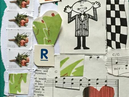 A Love-filled workshop-in-an-envelope collage complete!