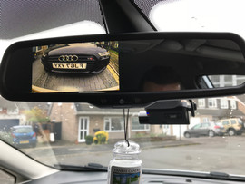 Ford replacement mirror monitor, rear camera and Thinkware dash cam install