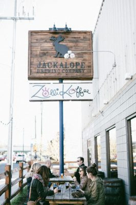 Jackalope Brewing Company and Zolli Koffee patio
