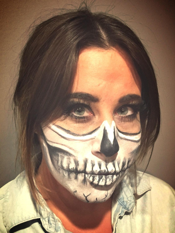 Full Face Halloween Make-Up