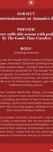 Restaurant Proposal E-mail