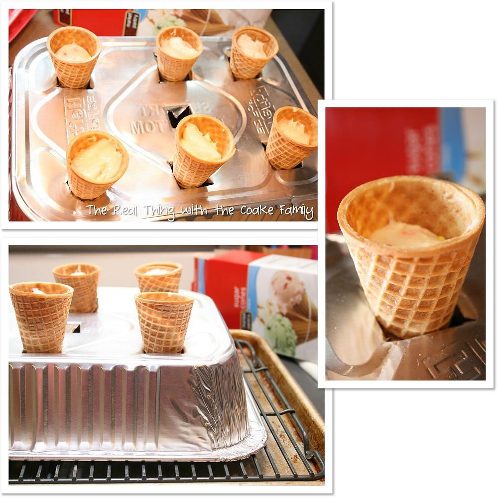 Real Coake Family Cupcake Cones