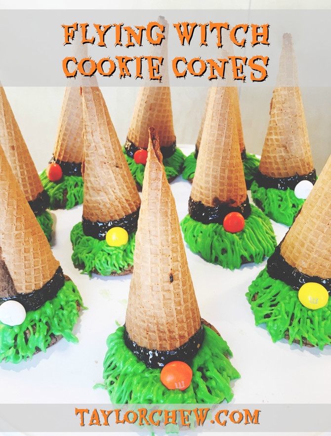 Flying Witch Cookie Cones