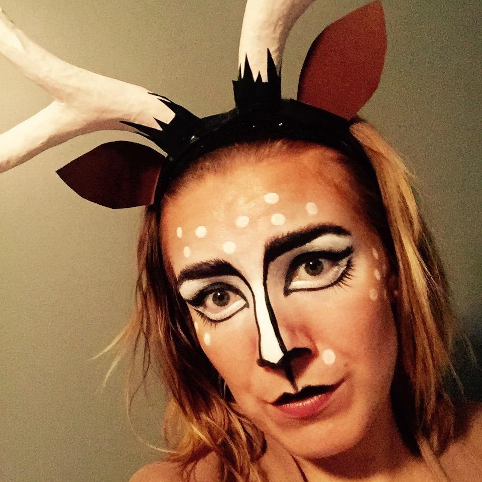 Partial Face Halloween Make-Up