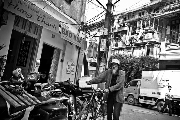 Hanoi street portrait