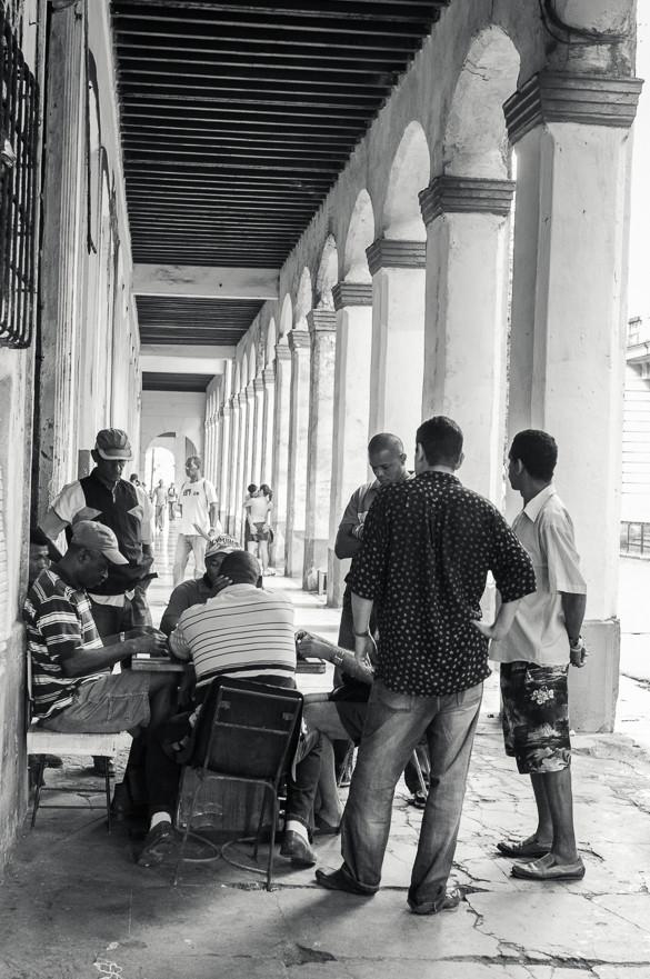 Cuba, dominoes, men