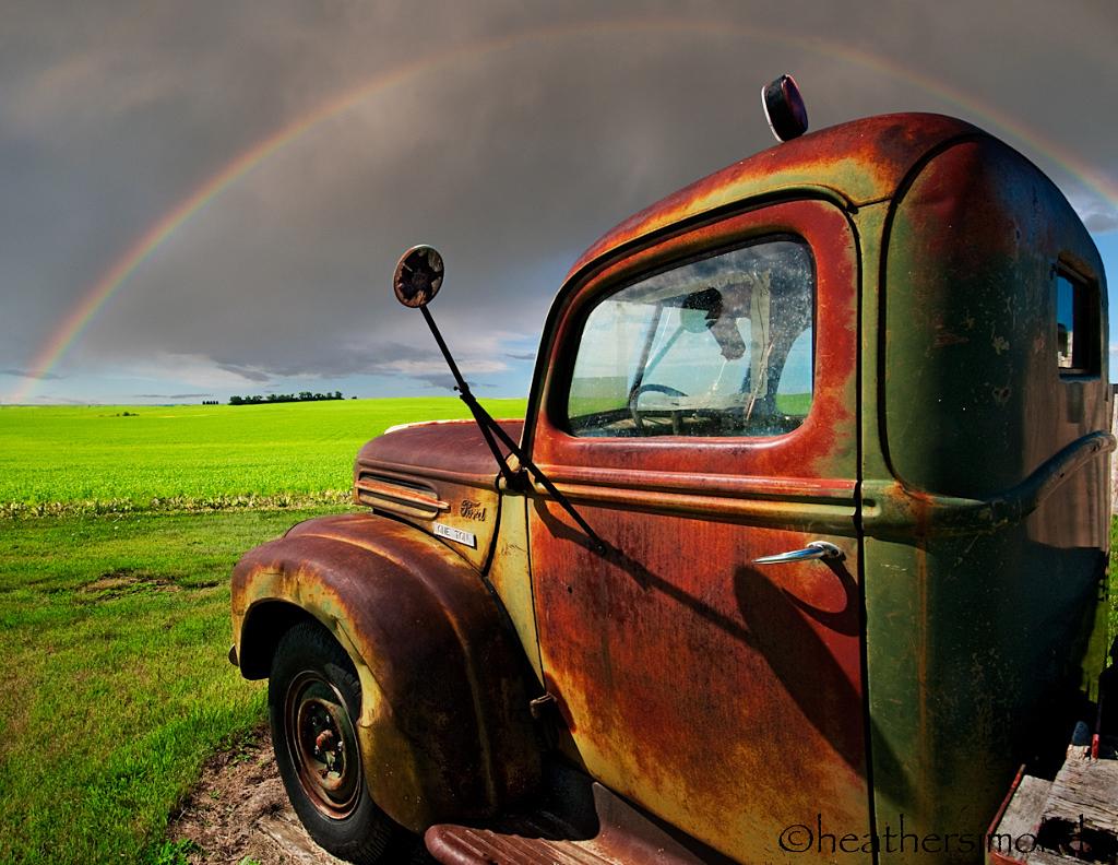 Vintage Truck Fleeting Rainbow